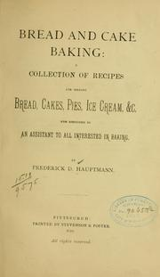 Cover of: Bread and cake baking
