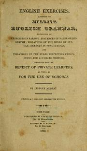 Cover of: English exercises
