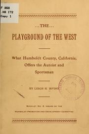 Cover of: The playground of the West