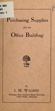 Cover of: Purchasing supplies for an office building