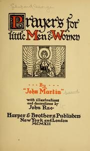 Cover of: Prayers for little men & women