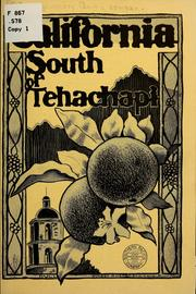 Cover of: California south tehachapi...