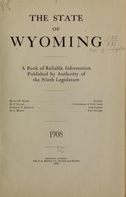 Cover of: The state of Wyoming