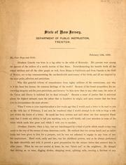 Cover of: Letter of C.J. Baxter, state superintendent, Feb. 12, 1909, to be read in each school in the state