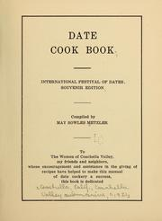 Cover of: Date cook book