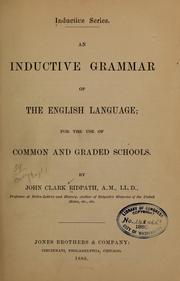 Cover of: An inductive grammar of the English language | John Clark Ridpath
