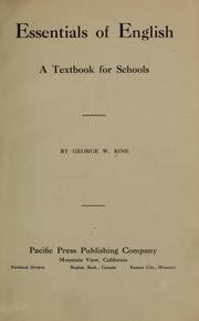 Cover of: Essentials of English