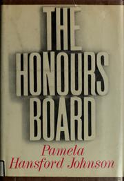 Cover of: The honours board