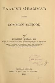Cover of: English grammar for the common school