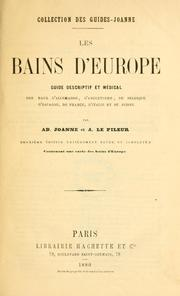 Cover of: Les bains d'Europe