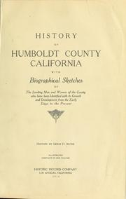 Cover of: History of Humboldt County, California