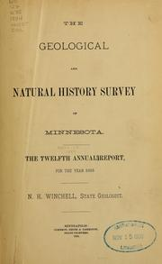 Cover of: The geological and natural history survey of Minnesota