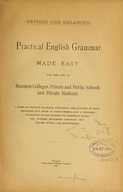 Cover of: Practical English grammar made easy
