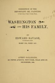 Cover of: Exhibition of the important oil painting (9 feet long, 6 feet 9 inches high), Washington and his family