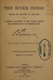 Cover of: The River Congo from its mouth to Bólobó | Harry Hamilton Johnston