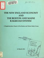Cover of: The New England economy and the Boston and maine railroad system