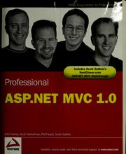 Cover of: Professional ASP.NET MVC 1.0 |