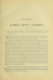 Cover of: History of Alameda County, California, including its geology, topography, soil, and productions | J. P. Munro-Fraser