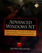 Cover of: Advanced Windows NT