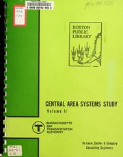 Cover of: Central area transportation study