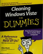 Cleaning Windows Vista for dummies by Allen Wyatt