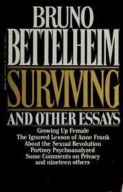 Cover of: Surviving, and other essays