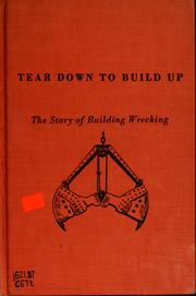 Cover of: Tear down to build up | Jean Poindexter Colby