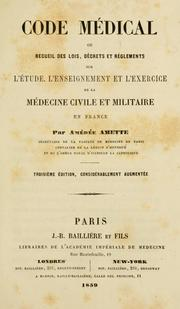 Cover of: Code médical