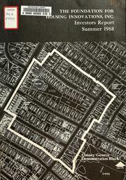 Cover of: Investors report, summer 1968, Quincy-geneva demonstration block