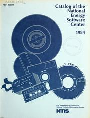 Cover of: Catalog of the National Energy Software Center, 1984