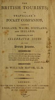 Cover of: The British tourists, or, Traveller's pocket companion