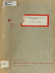 Cover of: An analog electro-optical multiplier