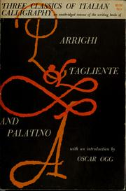 Cover of: Three classics of Italian calligraphy |