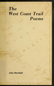 Cover of: The West Coast trail poems