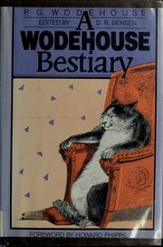 Cover of: A Wodehouse bestiary | P. G. Wodehouse
