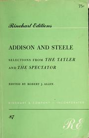 Cover of: Addison and Steele