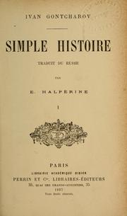 Cover of: Simple histoire