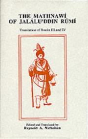 Cover of: Mathnawi of Jalaluddin Rumi IV (Mathnawi of Jalalu'ddin Rimi)
