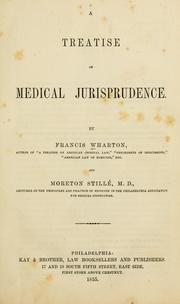 Cover of: Treatise on medical jurisprudence