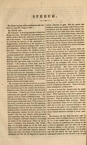 Cover of: Speech of Hon. William E. Finck, of Ohio, delivered in the House of Representatives of the United States, April 11, 1864