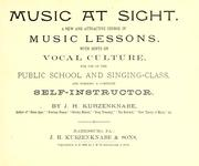 Cover of: Music at sight