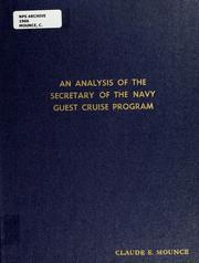 Cover of: An analysis of the Secretary of the Navy guest cruise program