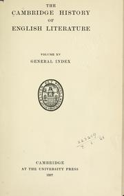 Cover of: The Cambridge history of English literature