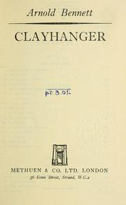 Cover of: Clayhanger | Arnold Bennett