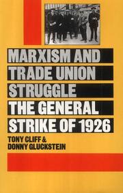 Cover of: Marxism and trade union struggle