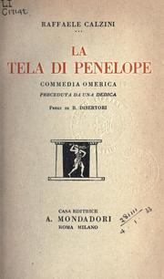 Cover of: La tela di Penelope