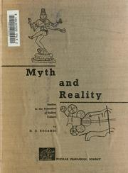 Cover of: Myth and reality | Damodar Dharmanand Kosambi