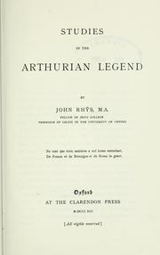 Cover of: Studies in the Arthurian legend