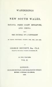 Cover of: Wanderings in New South Wales, Batavia, Pedir Coast, Singapore, and China