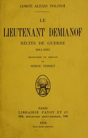Cover of: Le Lieutenant Demianof